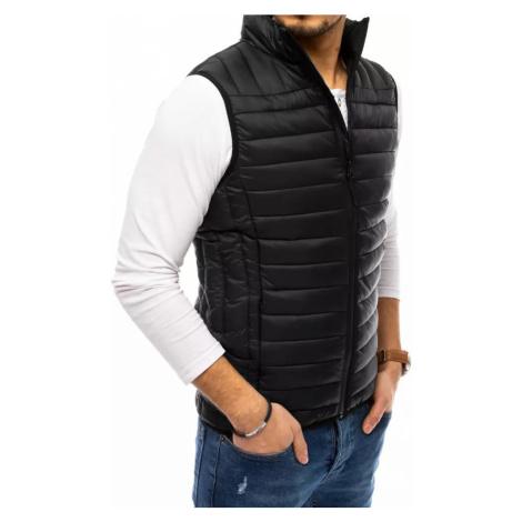 Men's quilted black vest Dstreet TX3668