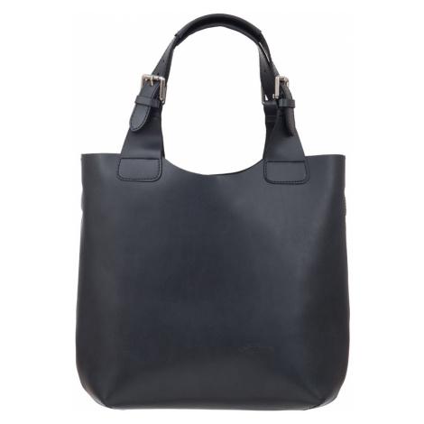 Kožená shopper bag kabelka L Artigiano 846 MN šedá L'Artigiano della Pelle