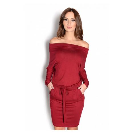Bordové šaty Adriana Oxyd
