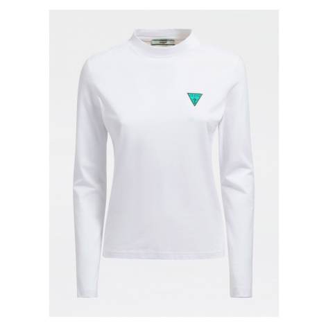 Guess GUESS dámské bílé tričko s dlouhým rukávem LS CN ELIZA TEE