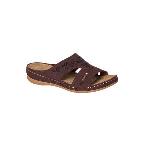 Bordó komfortní pantofle Easy Street