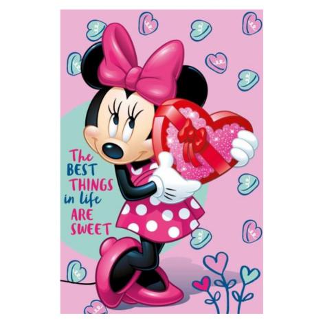 Dětská fleecová deka Minnie pink | dle fotky