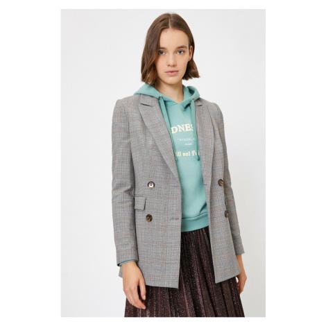 Koton Women's Brown Checkered Jacket