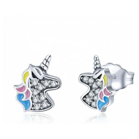 Linda's Jewelry Stříbrné náušnice Pecky Unicorn IN069