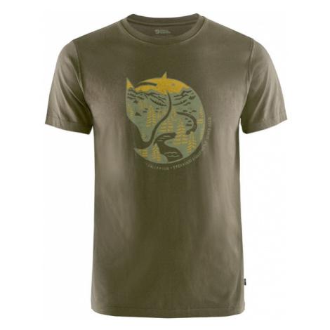 Tričko Fjällräven Arctic Fox T-shirt - Dark Olive