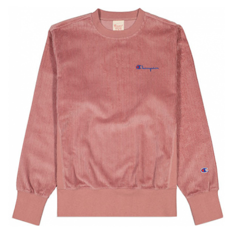 Champion Corduroy Small Script Logo Sweatshirt růžové 213690-PS123