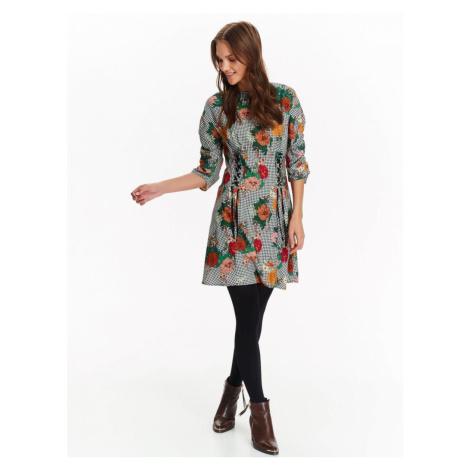 Top Secret šaty dámské květované se šněrováním