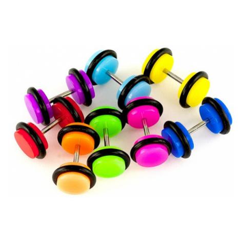 Fake plug do ucha, akrylový - Průměr: 8 mm, Barva: Modrá Šperky eshop