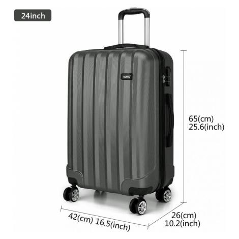 Šedý cestovní kvalitní střední kufr Corbin Lulu Bags