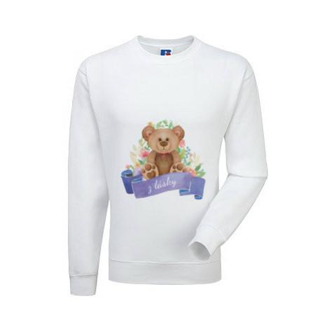 Pánská mikina bez kapuce Medvídek