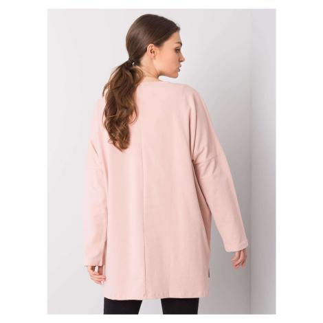 Pudrově růžová oversize bavlněná halenka ONE SIZE FPrice