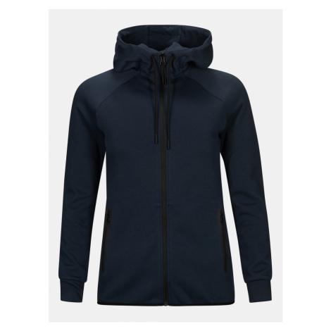 Mikina Peak Performance W Tech Zip Hood - Modrá