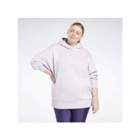 Reebok Sport Retro Oversize Hoodie (Plus Size) Fialová