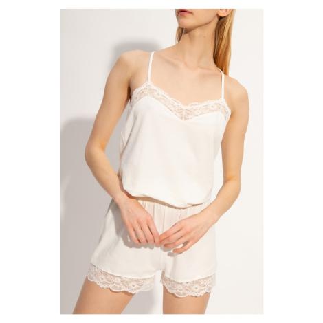 Armani Emporio Armani dámské bílé krajkované pyžamo
