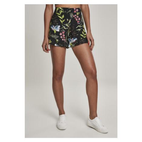 Urban Classics Ladies Resort Shorts black flower