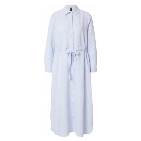 DeFacto Košilové šaty světlemodrá / bílá