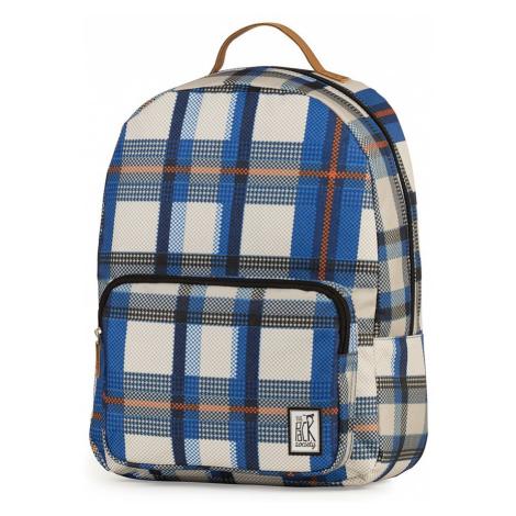 Batoh Classic – modré kárování The Pack Society