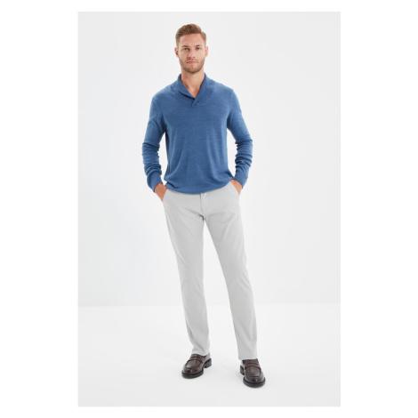 Trendyol Gray Men's Slim Fit Textured Chino Pants