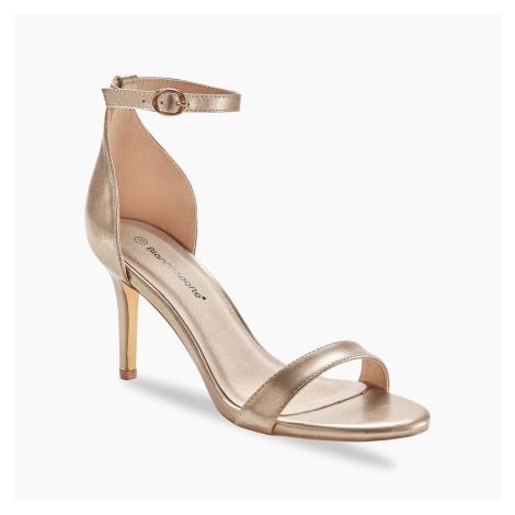 Blancheporte Páskové sandály, lesklé zlatá