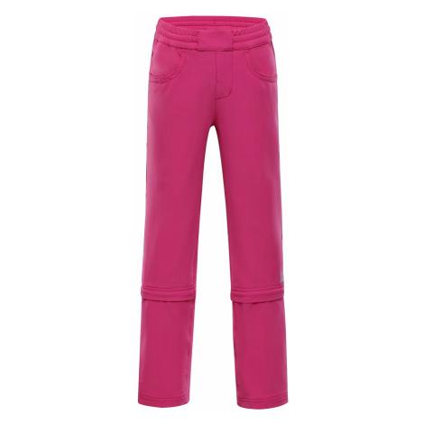 Dětské kalhoty Alpine Pro PANTALEO 2 - růžová