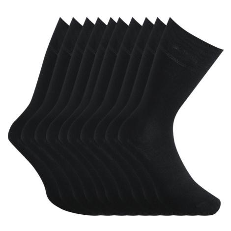 10PACK ponožky Styx vysoké bambusové černé (10HB960)