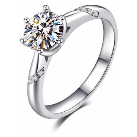 OLIVIE Stříbrný zásnubní prsten AMBER 4131