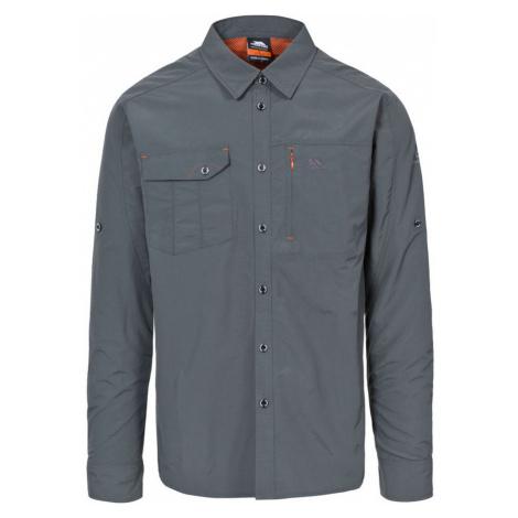 Trespass DARNET Pánská košile s dlouhým rukávem MATOSBN10001-CBN CARBON