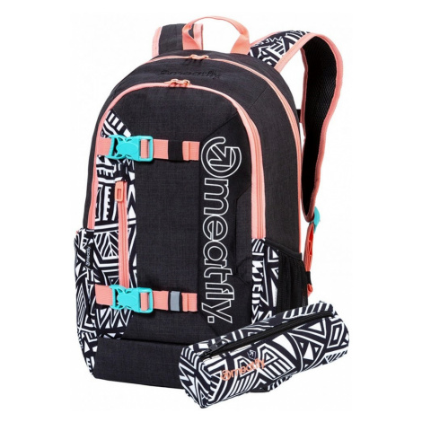 Batoh Meatfly Basejumper 6 j heather charcoal, dancing white 22l