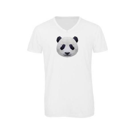 Pánské triko s výstřihem do V Panda