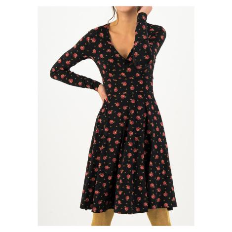 Žerzejové šaty černé s dlouhým rukávem Blutsgeschwister Romy rose
