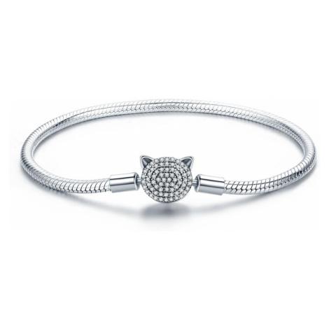 OLIVIE Stříbrný kruhový náramek KOČKA 3805