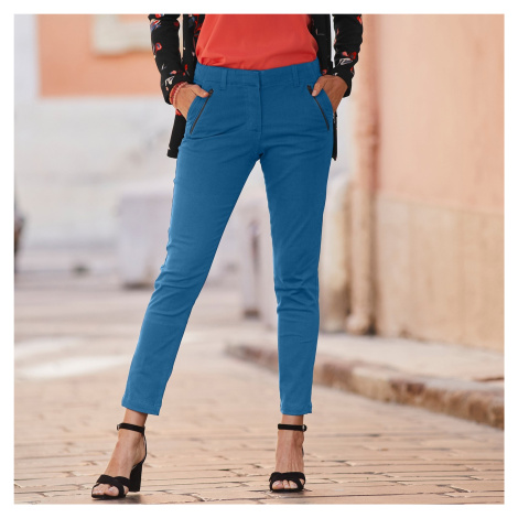 Blancheporte 7/8 kalhoty se zipy a kapsami indigo