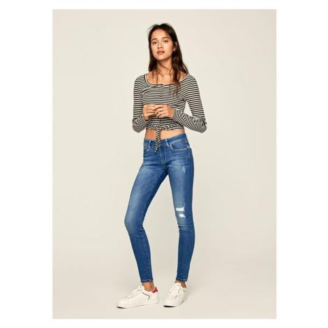 Pepe Jeans Pepe Jeans dámské modré džíny PIXIE