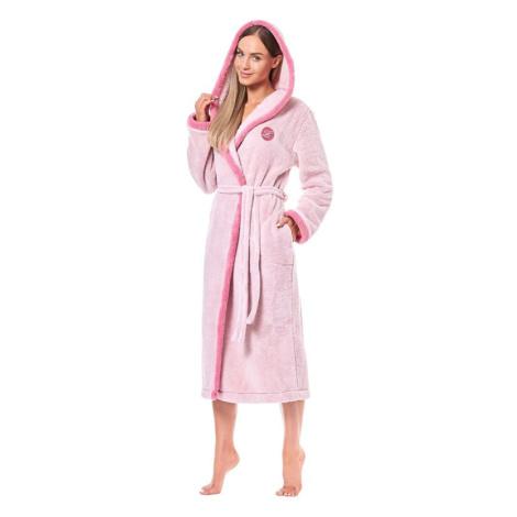 Dlouhý dámský župan Ema růžový L&L Collection