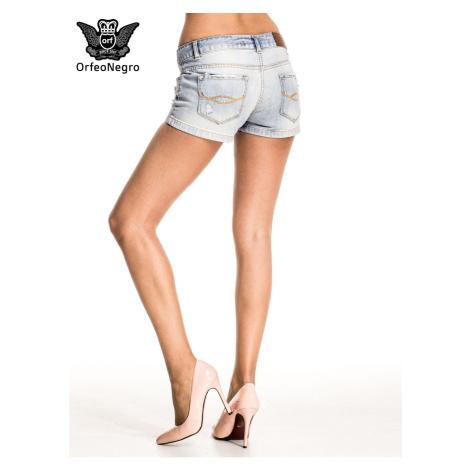 Light blue distressed denim shorts Fashionhunters
