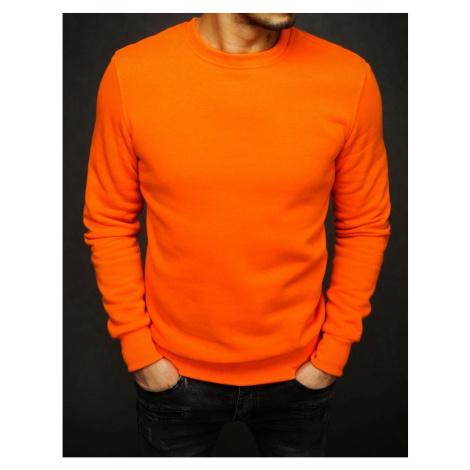 Men's smooth orange sweatshirt BX4510 DStreet
