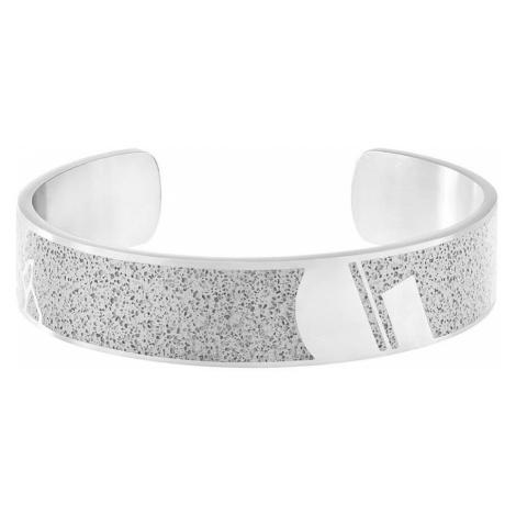 Pánský náramek Crush – světle šedý – chirurgická ocel GRAVELLI JEWELLERY