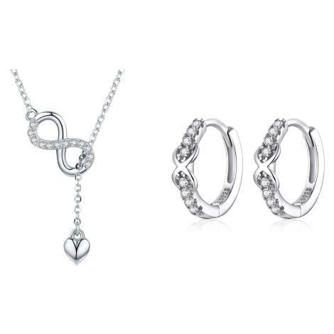 Linda's Jewelry Zvýhodněná sada šperků Infinite Nekonečno Ag 925/1000 IS037