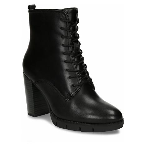 Kožená šněrovací obuv na podpatku Baťa