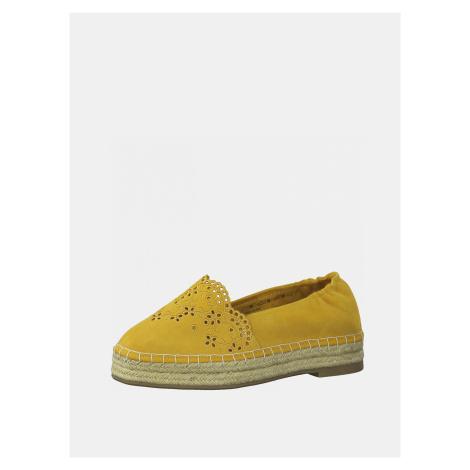 Žluté semišové espadrilky Tamaris