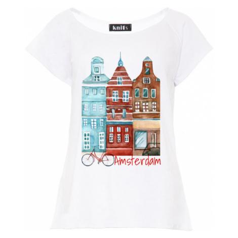 Dámské bílé tričko Amsterdam K473
