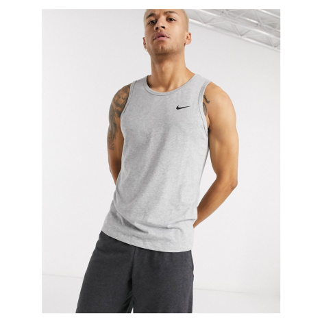 Nike Training dry tank in grey