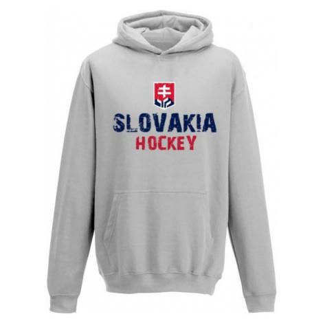 Střída KLOKANKA NAPIS SLOVAKIA HOCKEY šedá - Dětská mikina