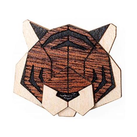 Dřevěná brož Tiger Brooch