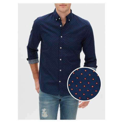 GAP modré pánská košile s puntíky