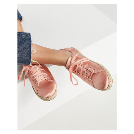 Toms lena lace up espadrilles in pink