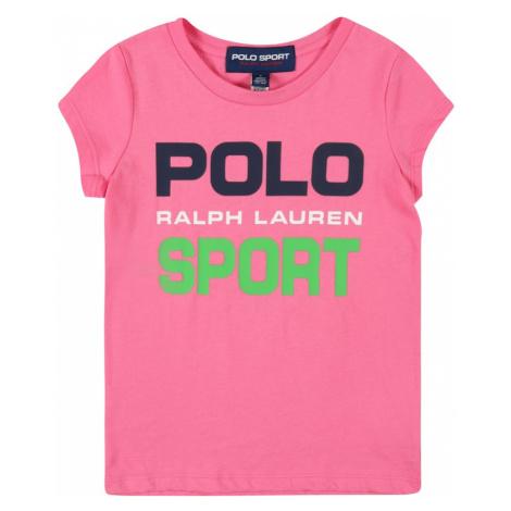 Polo Ralph Lauren Tričko světle růžová / černá / bílá / zelená