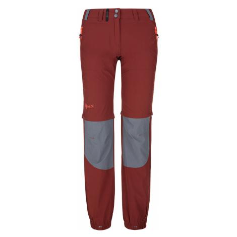 KILPI Dámské outdoorové kalhoty HOSIO-W PL0024KIDRD Červená
