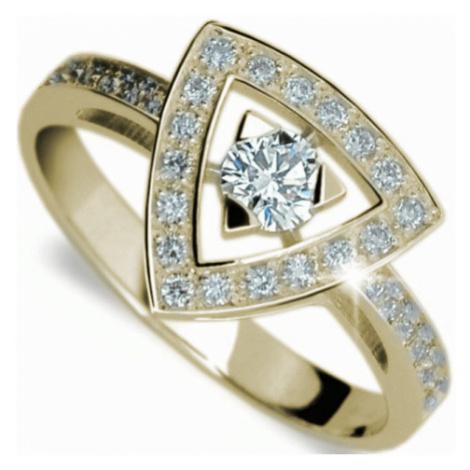 Danfil Luxusní zlatý prsten s diamanty DF1970z
