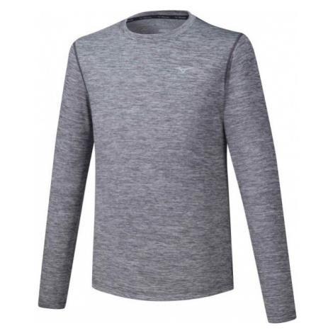 Mizuno IMPULSE CORE LS TEE šedá - Pánské běžecké triko s dlouhým rukávem